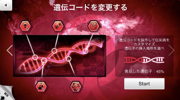 PlagueInc,伝染病株式会社,狂牛病,攻略,アプリ,ゲーム,遺伝コード